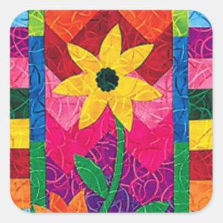 Sunflower Quilt Square Sticker