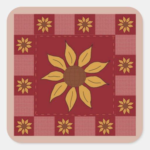 Sunflower Quilt Stickers