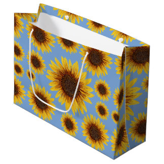 Sunflower Rain Large Gift Bag