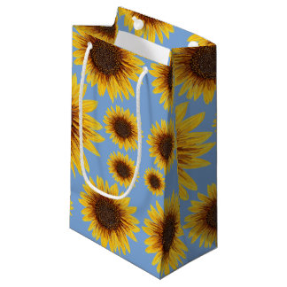 Sunflower Rain Small Gift Bag