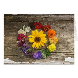 Sunflower rainbow card