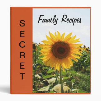 Sunflower Recipe Binder