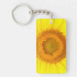 Sunflower Rectangle Double-sided Keychain