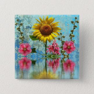 Sunflower Reflection Button