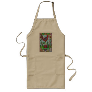 Sunflower Rooster Long Apron