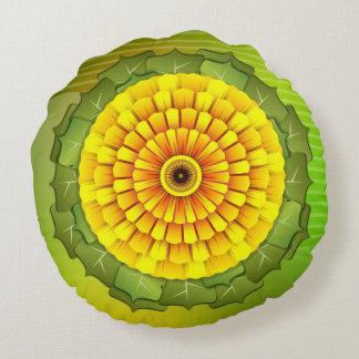 Sunflower round round pillow