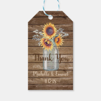 Sunflower Rustic Favor Tag, Wedding Favor, Shower Gift Tags