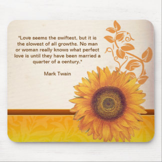 sunflower rustic mouse pad