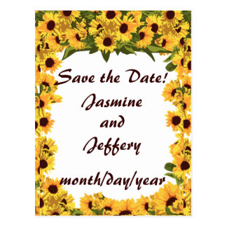 Sunflower Save the Date! Postcard