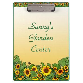 Sunflower Scroll Clipboard