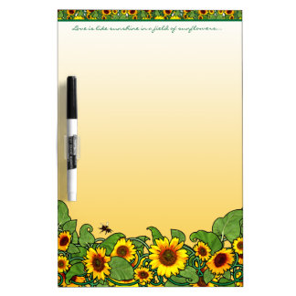 Sunflower Scroll Dry Erase Board