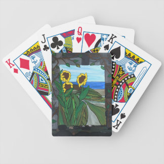 Sunflower seascape bicycle playing cards