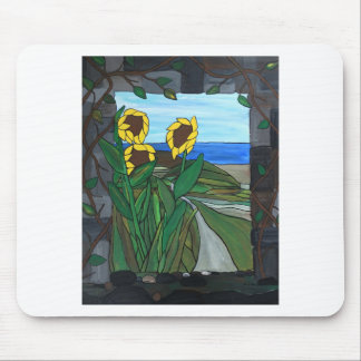 Sunflower seascape mouse pad