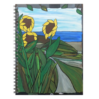Sunflower seascape notebook