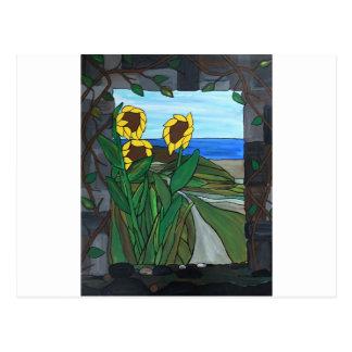 Sunflower seascape postcard