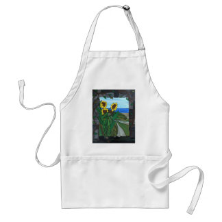 Sunflower seascape standard apron