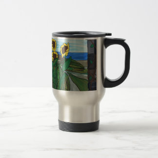 Sunflower seascape travel mug