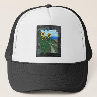 Sunflower seascape trucker hat