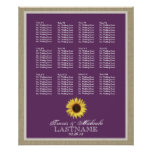 Sunflower Seat Chart with Changeable Colour