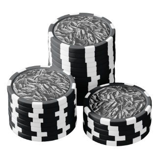 Sunflower Seeds - Black and White Photograph Poker Chips