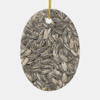 Sunflower Seeds Ceramic Ornament