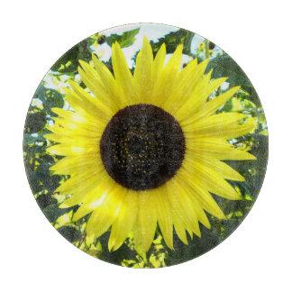 Sunflower Sensation Glass Cutting Board