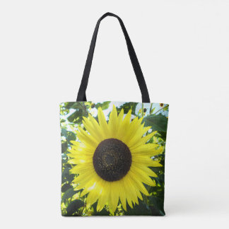 Sunflower Sensation Printed Tote Bag