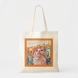 Sunflower Sentinel Tote Bag