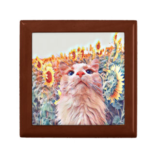 Sunflower Sentinel Trinket Box