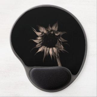 Sunflower - Sepia Fine Art Photograph Unique Cool Gel Mouse Pad
