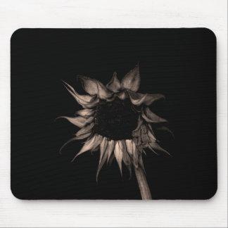 Sunflower - Sepia Fine Art Photograph Unique Cool Mouse Pad