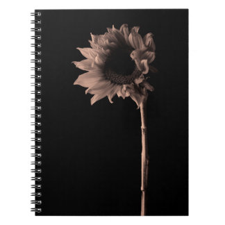 Sunflower - Sepia Fine Art Photograph Unique Cool Notebook