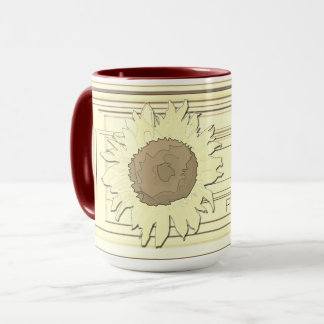 Sunflower sepia mug