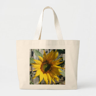 Sunflower Shadow, CEHiday Large Tote Bag