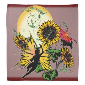 Sunflower Shadow Fairy and Cosmic Cat Bandana