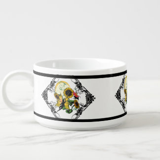 Sunflower Shadow Fairy and Cosmic Cat Bowl