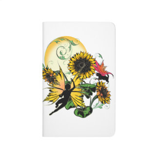 Sunflower Shadow Fairy and Cosmic Cat Journal
