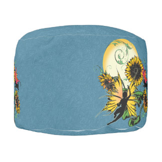 Sunflower Shadow Fairy and Cosmic Cat Pouf