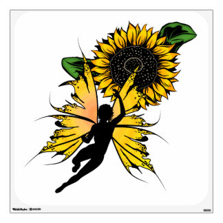 Sunflower Shadow Fairy Wall Sticker