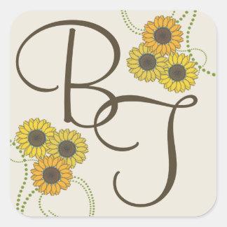 Sunflower Simplicity Square Sticker