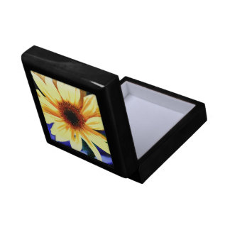 """Sunflower Small 5.125"""" Square w/4.25"""" Tile Gift Box"""