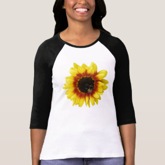 sunflower Solar Flash Hybrid Flower Womens T-shirt