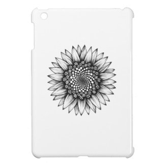 Sunflower spiral iPad mini cover