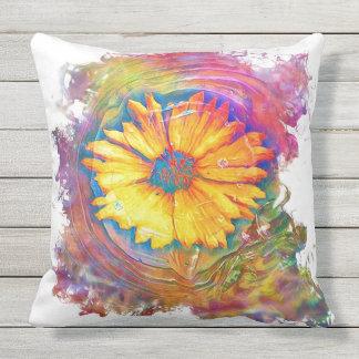 Sunflower Splash Outdoor Pillow