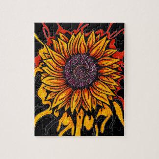 Sunflower Splattered Puzzle