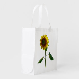 Sunflower Standing Tall Reusable Grocery Bag
