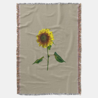 Sunflower Standing Tall Throw Blanket