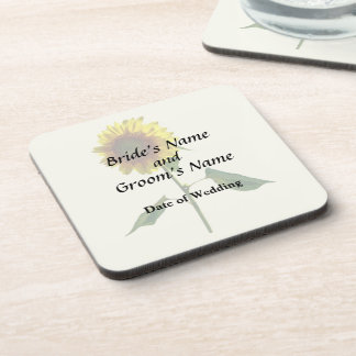 Sunflower Standing Tall Wedding Products Beverage Coaster