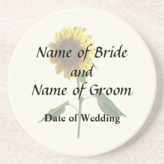 Sunflower Standing Tall Wedding Products Beverage Coasters