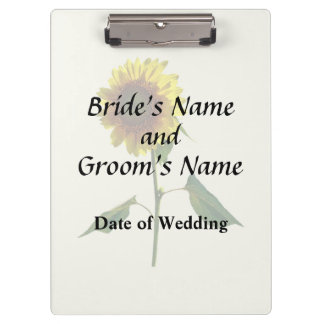 Sunflower Standing Tall Wedding Products Clipboard